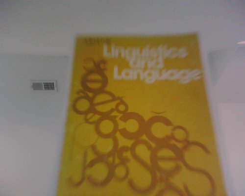 9780471025290: Linguistics and Language: A Survey of Basic Concepts and Implications