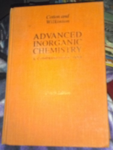 9780471027751: Advanced Inorganic Chemistry: A Comprehensive Text