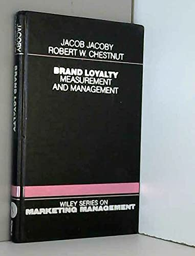 9780471028451: Brand Loyalty: Measurement and Management (Wiley Series on Marketing Management)