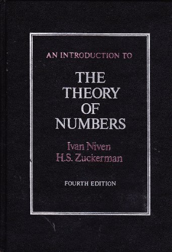9780471028512: An Introduction to the Theory of Numbers, Fourth Edition