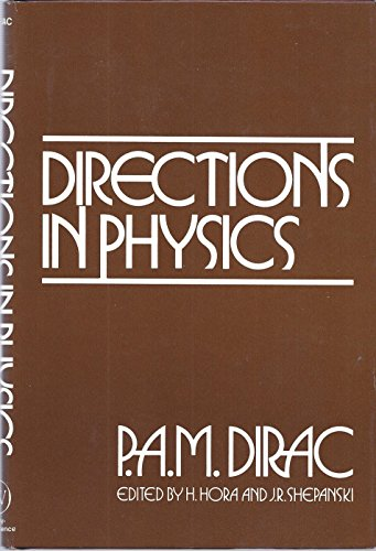 9780471029977: Directions in Physics
