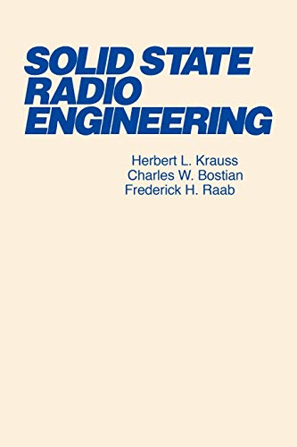 9780471030188: Solid State Radio Engineering