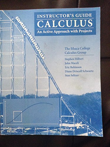 9780471032038: Calculus - an Active Approach with Projects - Teachers Manual