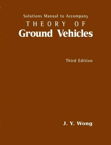 9780471032533: Theory of Ground Vehicles