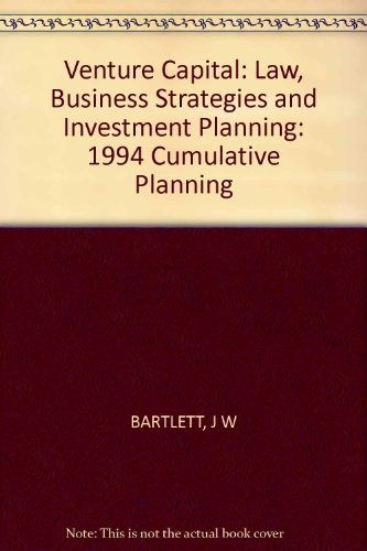 9780471033370: Venture Capital: Law, Business Strategies, and Investment Planning, 1994 Cumulative Supplement