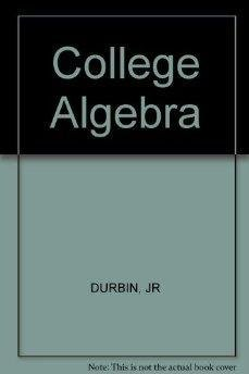 9780471033684: College algebra