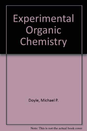 9780471033837: Experimental Organic Chemistry