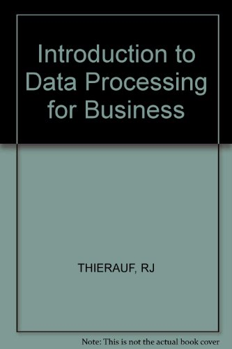 9780471034391: Introduction to Data Processing for Business