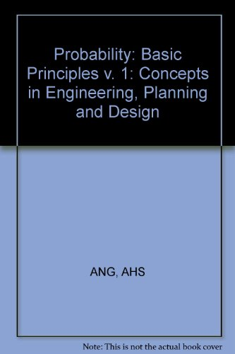 9780471035268: Probability: Basic Principles v. 1: Concepts in Engineering, Planning and Design