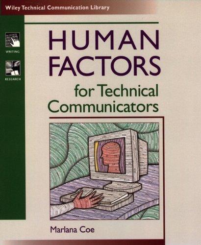 9780471035305: Human Factors for Technical Communicators