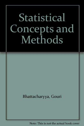 9780471035329: Statistical Concepts and Methods