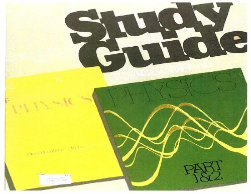 9780471036685: Student Study Guide to Accompany Fundamentals of Physics, Revised Edition (2 Parts)