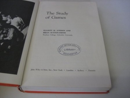 9780471038399: The Study of Games