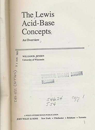 9780471039020: The Lewis Acid-base Concepts: An Overview