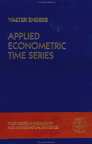 9780471039419: Applied Econometric Time Series: User's Guide (Wiley Series in Probability and Statistics)