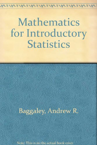 9780471040071: Mathematics for Introductory Statistics: A Programmed Review