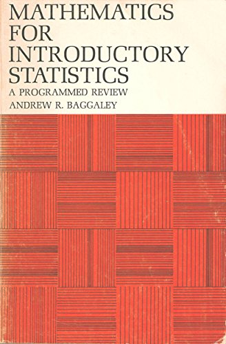 9780471040088: Mathematics for Introductory Statistics: A Programmed Review