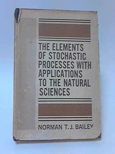 9780471041658: Elements of Stochastic Processes with Applications to the Natural Sciences