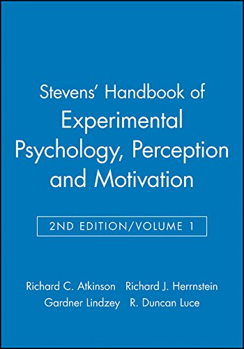 9780471042037: Stevens' Handbook of Experimental Psychology, Perception and Motivation (Volume 1)