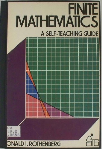 9780471043201: Finite Mathematics (Self-teaching Guides)