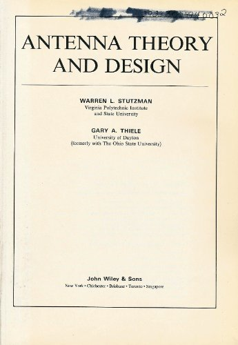 9780471044581: Antenna Theory and Design