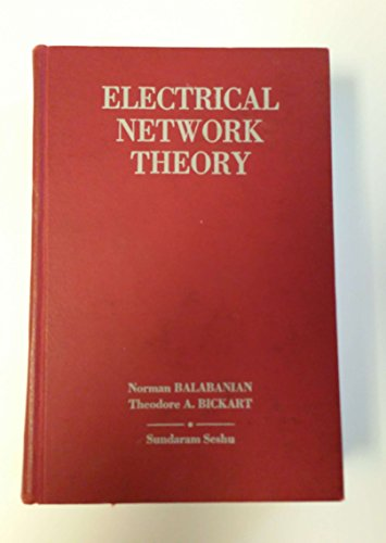 9780471045762: Electrical Network Theory