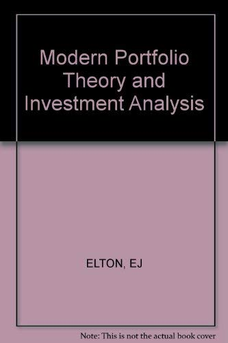 9780471046905: Modern Portfolio Theory and Investment Analysis