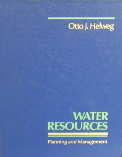 9780471047704: Water Resources Planning and Management