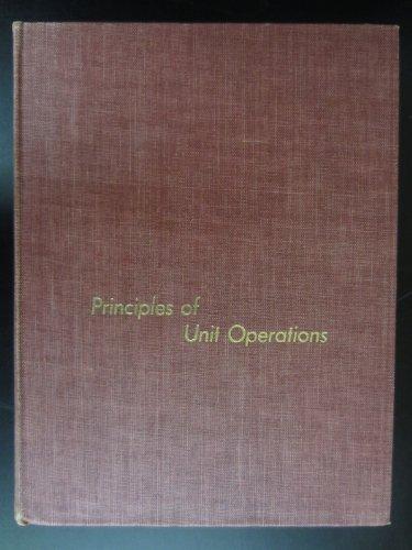 9780471047872: Principles of Unit Operations