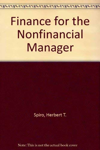 9780471048039: Finance for the Nonfinancial Manager