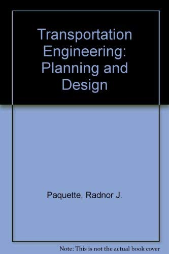 9780471048787: Transportation Engineering: Planning and Design