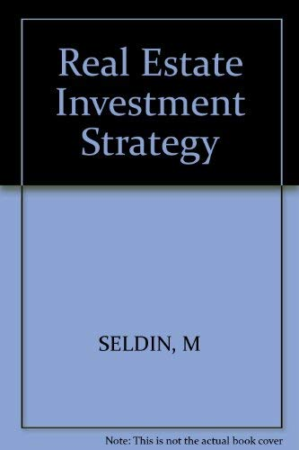 9780471050124: Real estate investment strategy