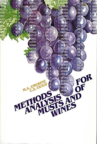 9780471050773: Methods for Analysis of Musts and Wines