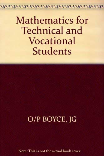 9780471051824: Mathematics for Technical and Vocational Students