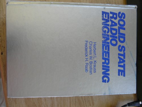 9780471052937: Solid State Radio Engineering: Solutions Manual