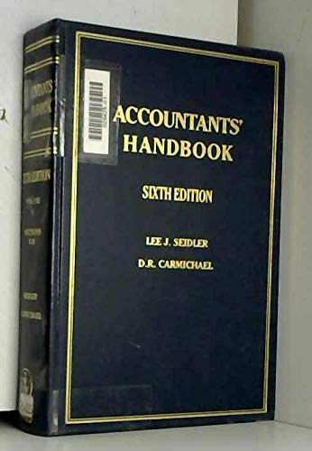 Accountant's Handbook (Wiley Professional Accounting and Business): D. R. Carmichael
