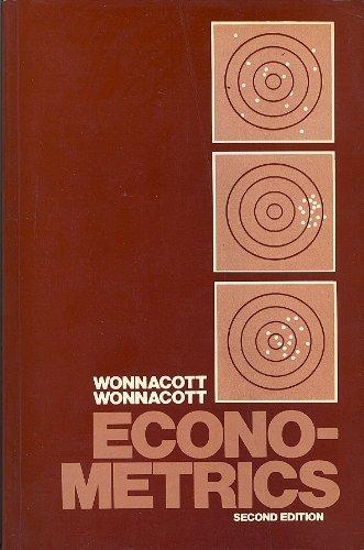 9780471055143: Econometrics (Probability & Mathematical Statistics)