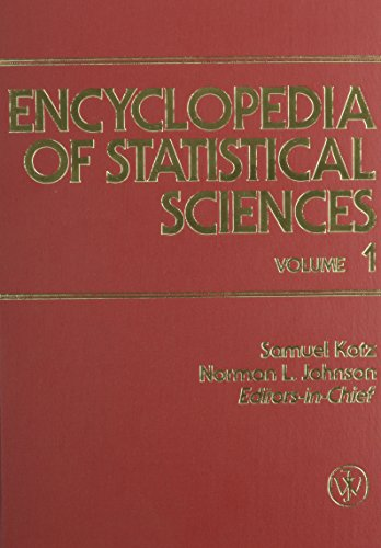 9780471055440: Encyclopedia of Statistical Sciences, 9 Vol. Set