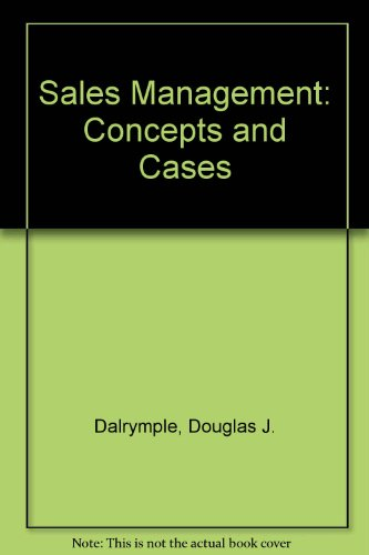 9780471055488: Sales Management: Concepts and Cases