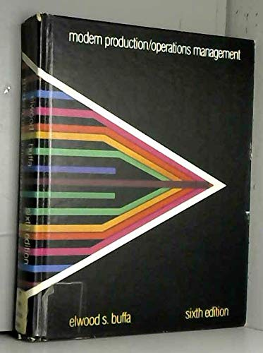 9780471056720: Modern Production/Operations Management (Wiley Series in Management)