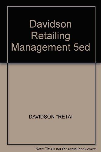 9780471057178: Davidson Retailing Management 5ed