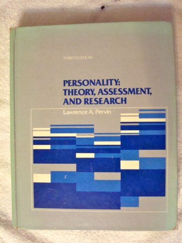 9780471058267: Personality: Theory, Assessment, and Research