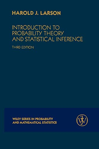 9780471059097: Introduction to Probability Theory and Statistical Inference
