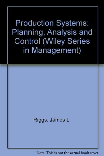 9780471059462: Production Systems: Planning, Analysis and Control (Wiley Series in Management)