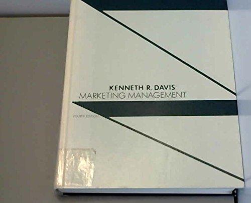 Marketing Management: Kenneth R. Davis