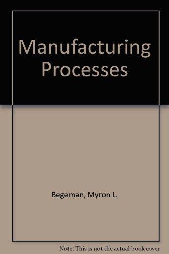 9780471062400: Manufacturing Processes