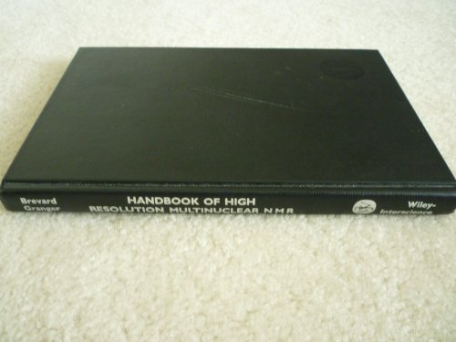 9780471063230: Handbook of High Resolution Multinuclear Nmr