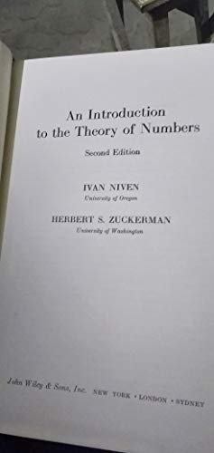 9780471063940: Introduction to the Theory of Numbers: Solutions Manual