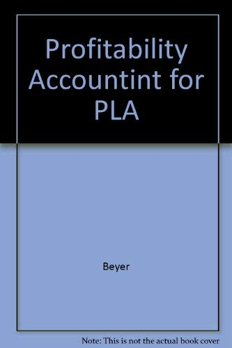 9780471065234: Profitability Accountint for PLA