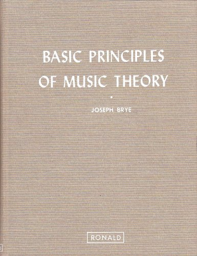 9780471070221: Brye Basic Principles of Music Theory